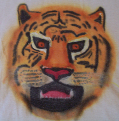 Airbrush TIger on Tshirt